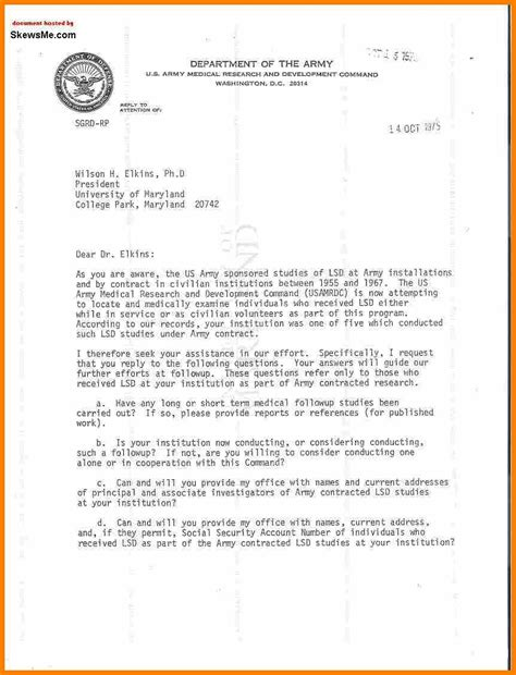 Exle Letter Of Introduction Army 7 Army Letter Of Introduction Bid Template