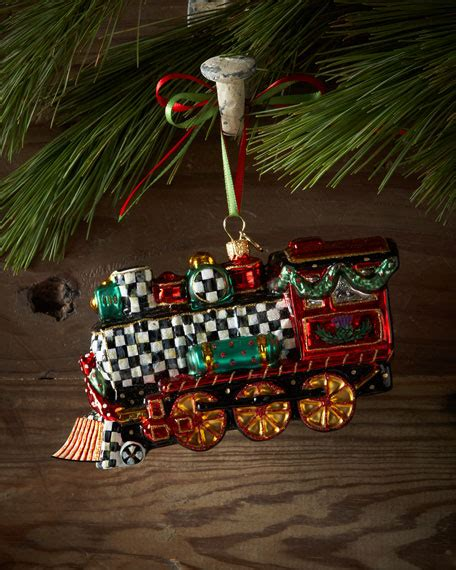 moveable christmas train ornaments mackenzie childs ornament