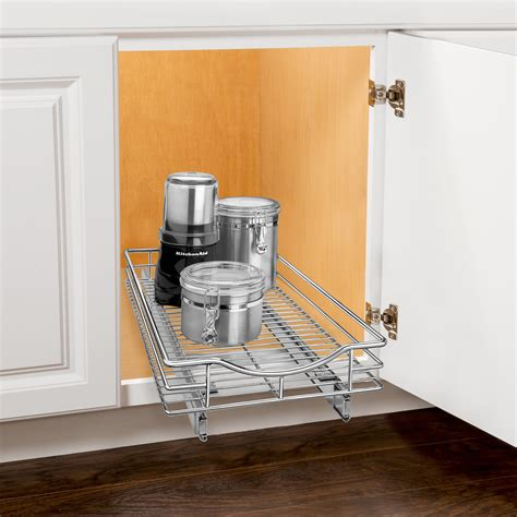under cabinet pull out shelf lynk roll out cabinet organizer pull out under