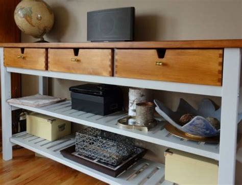25 Ways To Use And Hack IKEA Norden Buffet   DigsDigs