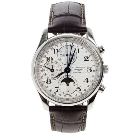 Longines Master Moonphase Chronograph longines master collection moonphase chronograph mens wristwatch 40 mm buy sell lc
