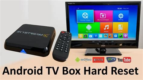 reset an android box android tv box hard reset restore factory settings