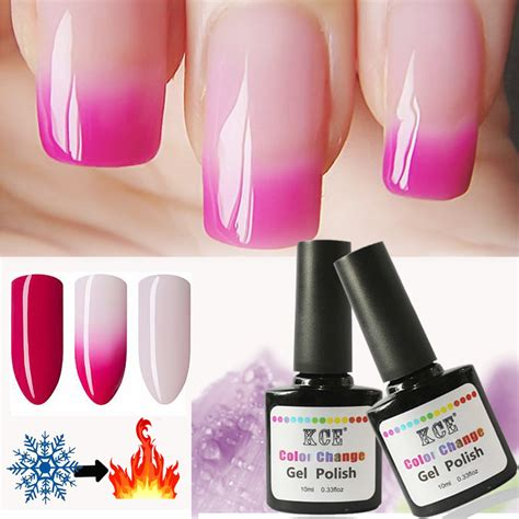 Nail Change by Newest Nail Temperature Change Nail Color Uv Gel