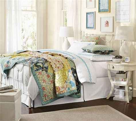 scalloped organic patchwork quilt sham pottery barn
