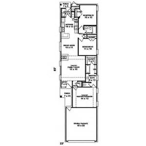 Narrow House Floor Plans plans maison terrain 233 troit plans de maison de retraite et plans de