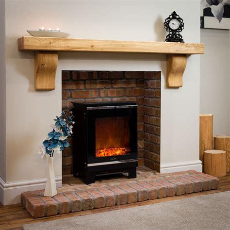 rustic curved corbel oak beam mantel shelf