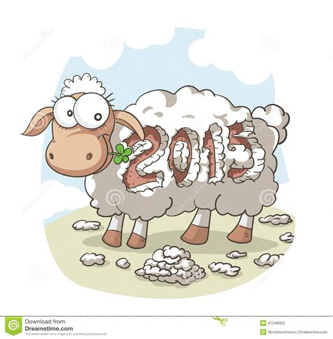new year of the sheep vector year of the sheep 2015 vector stock vector image