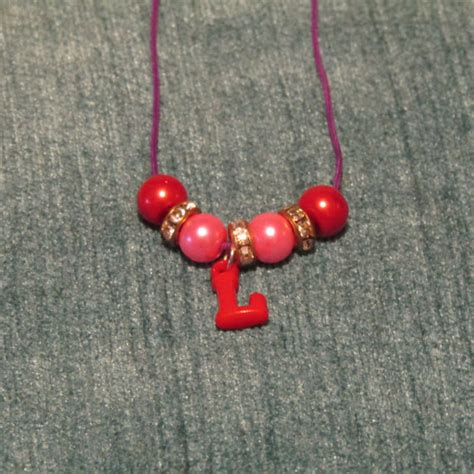 children s l initial necklace by artisticdreamer85 on