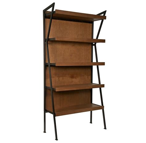 Modern Metal Bookcase brennan industrial loft modern wood metal bookcase kathy kuo home