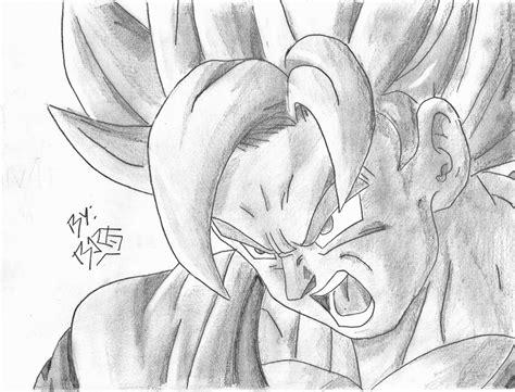 imagenes de goku hechas a lapiz mis dibujos de dragon ball z taringa