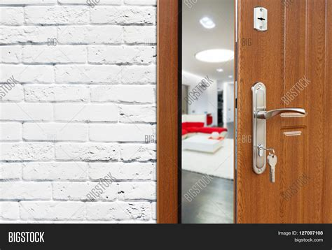 Open Locked Interior Door Half Opened Door Living Room Door Image Photo Bigstock