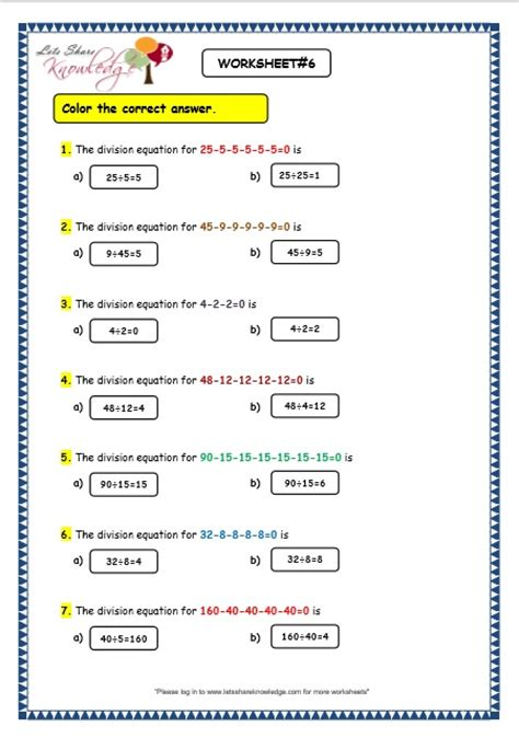free printable division as repeated subtraction worksheets grade maths worksheets division by repeated grade best