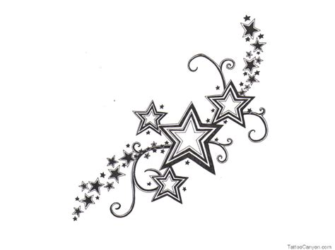 star cluster tattoo designs clipart