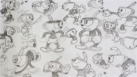 cuphead creating a game that looks like a 1930s cartoon