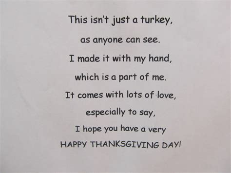 printable turkey handprint poem preschool happenings recipes reading and real life
