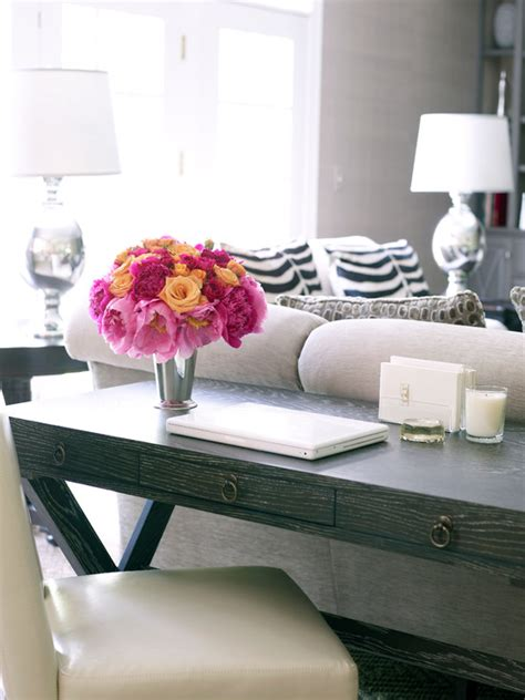 desk behind couch desk behind sofa transitional living room susan