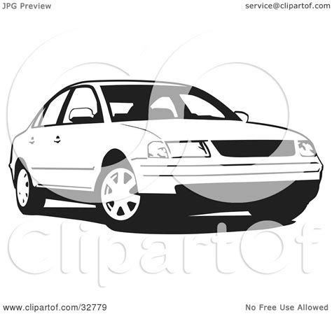 volkswagen white car clipart illustration of a black and white volkswagen