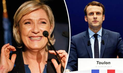 emmanuel macron marine le pen marine le pen would win first round of french elections