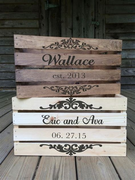 Wedding Card Crate by Best 25 Wooden Crates Ideas On Crate Shelves