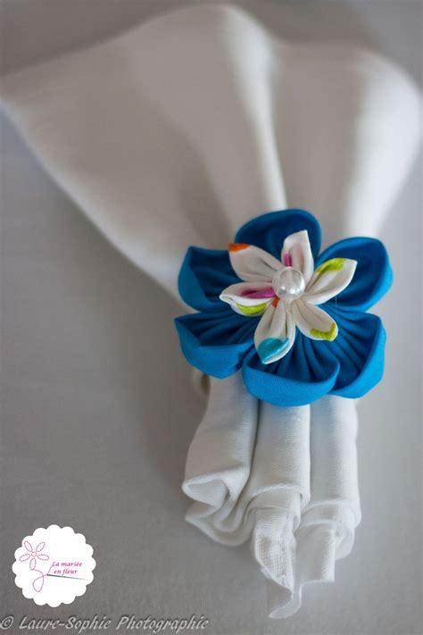 Rond De Serviette Fleur by Rond De Serviette Fleur En Tissu Bleu D 233 Coration Table De