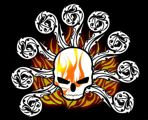 one piece flag tattoo blazing pirates jolly roger by frostheart d blaize on