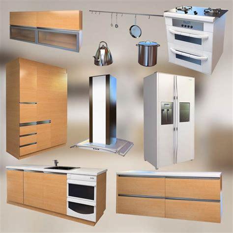 3d model kitchen set kitchen set p1 3d model hum3d