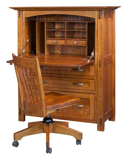 Armoire Office Desk Amish Modesto Computer Desk Surrey Rustic