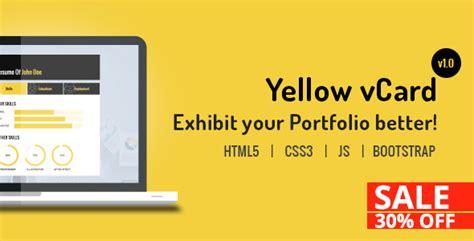 demdous mobile vcard template by thememarket themeforest yellow vcard template by webtechtoday themeforest