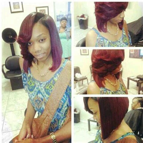 feathered colored bobs feathered bob hairstyles pinterest feathered bob