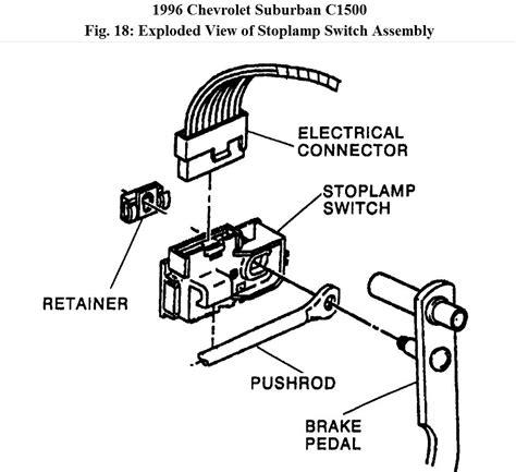 95 silverado brake light switch wiring diagram circuit