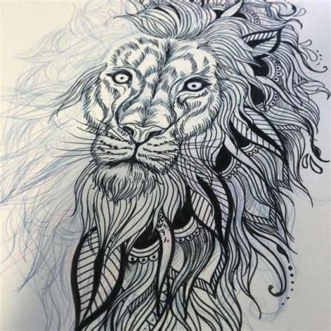 lion zendoodle drawn by justine galindo signed prints lion mandala tattoo google search tattoo pinterest