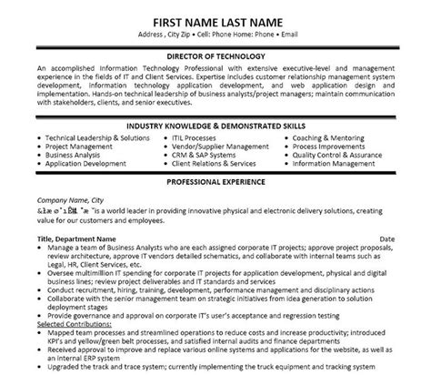 11 best best it manager resume templates sles images