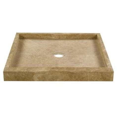 36 in x 36 in shower pan in light emperador 78922