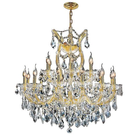 maria theresa gold crystal chandelier in white bedroom worldwide lighting maria theresa 19 light polished gold