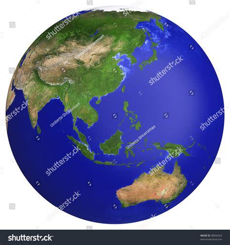 earth maps australia earth planet globe map side asia stock ilustrace 98996363