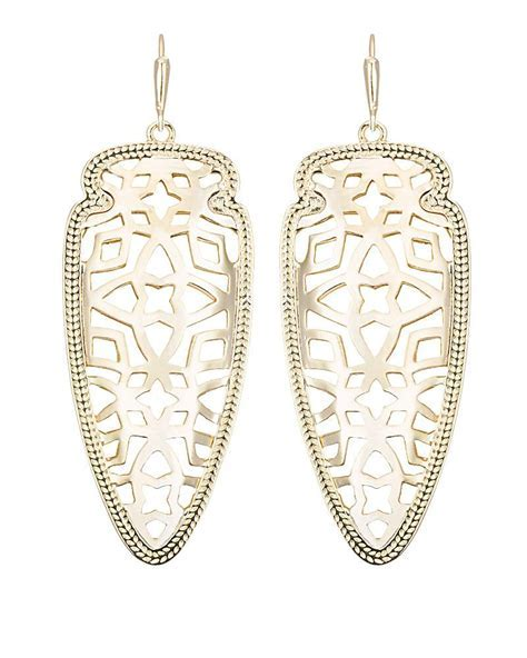 Sadie Filigree Arrowhead Statement Earrings   Kendra Scott