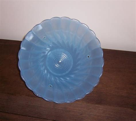 blue glass ceiling light cover shade 3 mount