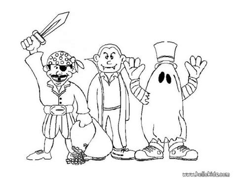 Scary Monster Halloween Coloring Pages Coloring Pages Costumes Coloring Pages