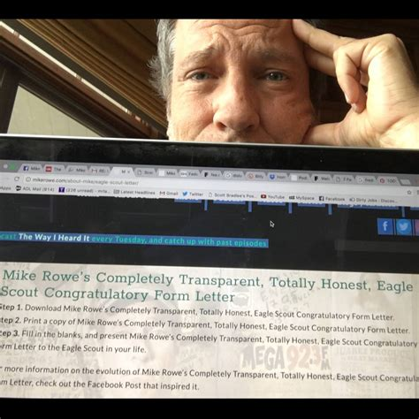 Off The Wall: Eagle Scout Congratulatory Form Letter ... Eagle Congratulatory Letter Request Mike Rowe