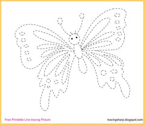 Trace Image Online Free Tracing Line Printable Butterfly Tracing Picture