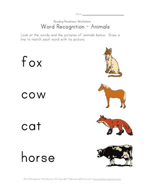 7 Letter Word Animal Names Animals Using Letter Homeschooling Sight