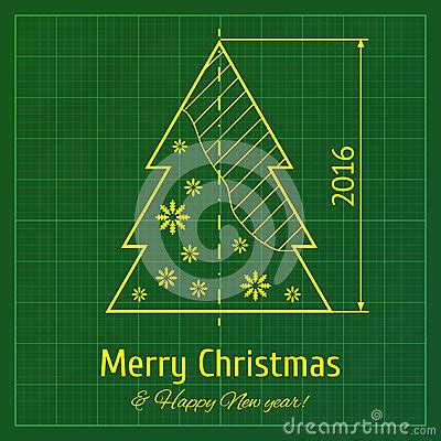 christmas tree on graph paper stock vector image 60891101