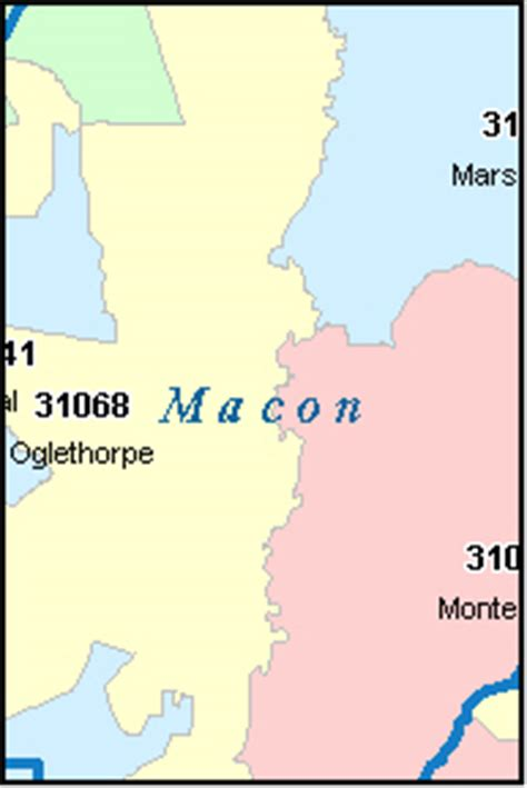 macon zip code map macon county digital zip code map