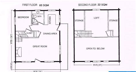 1 bedroom with loft floor plans one bedroom log cabin plans with loft joy studio design