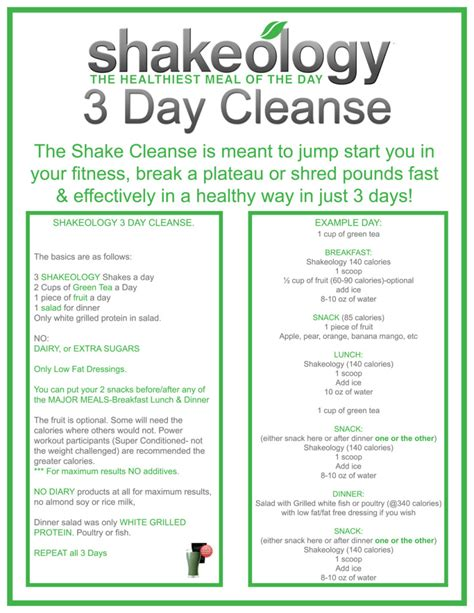 3 Day Cleanse And Detox by Shakeology 3 Day Cleanse Ready Now