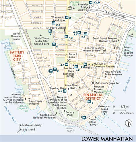 printable map lower manhattan lower manhattan bing images