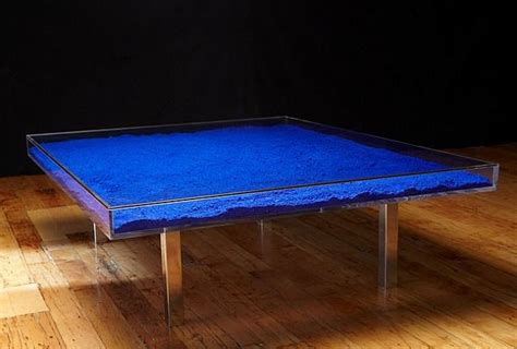 Yves Klein Coffee Table This Coffee Table Is Filled With Yves Klein International Blue Pigment I Want It So Bad But