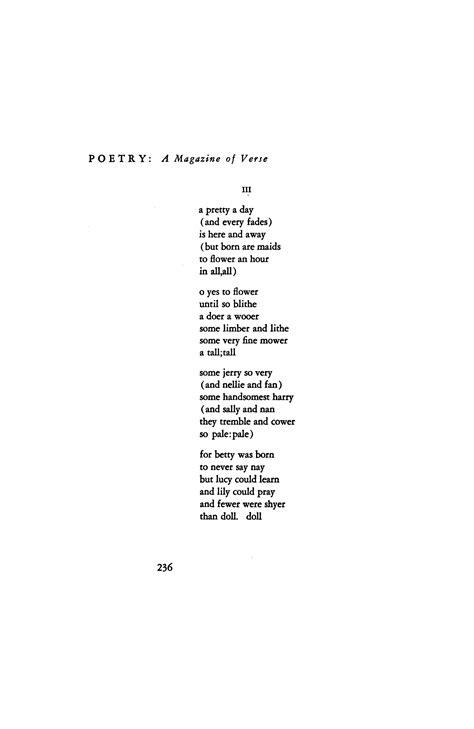 ee cummings poetry style ee cummings