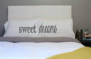 sweet dreams pillow couples pillow his hers pillow by