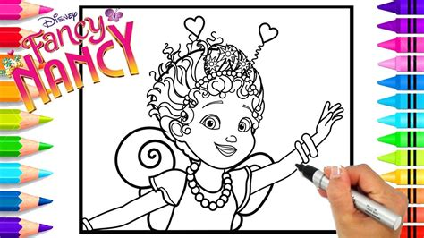 fancy nancy coloring pages gambar disney s fancy nancy as a ballerina from disney